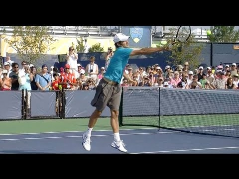Roger Federer Volleys in Full and Slow Motion - Federer Volley in HD