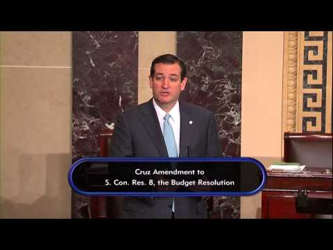 Sen. Cruz Presents Amendment to Budget Resolution to Repeal Obamacare