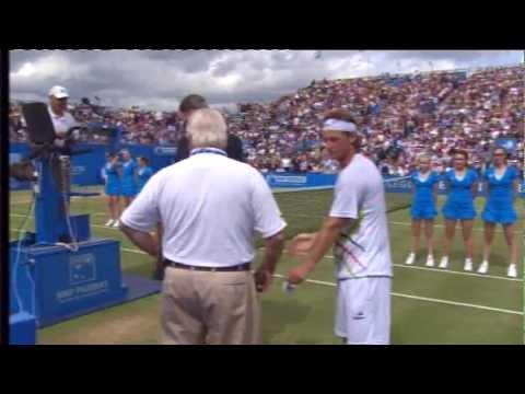 AEGON Championships (Men's Singles) 2012 - David Nalbandian disqualified