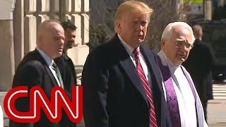 Trump went to church amid his Twitter rant. Hear what was preached. - CNN