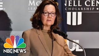 CIA Director Gina Haspel Comments On Agency's New Direction | NBC News - NBCNEWS