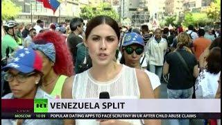 Rival rallies over US aid held across Venezuela - RUSSIATODAY