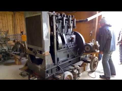 Start eines Mawas 50 PS Motor BJ1912