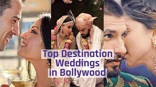 Top Destination Weddings in Bollywood | Ranveer & Deepika, Virat & Anushka & More - ZOOMDEKHO