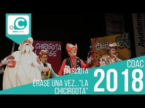 Sesión de Preliminares, la agrupación Érase una vez?La Chirigota actúa hoy en la modalidad de Chirigotas.