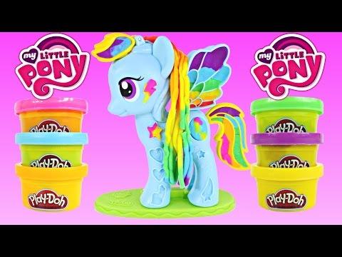 NEW PLAY DOH Rainbow Dash Style Salon My Little Pony Plastilina Salón Playdough Toys DCTC