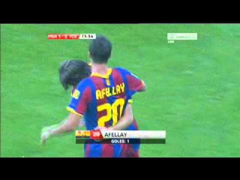 Afellay s goal vs Malaga 21 5 2011