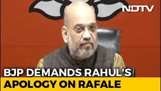 """""""Who Is Your Source?"""" Amit Shah Targets Rahul Gandhi After Rafale Verdict - NDTV"""