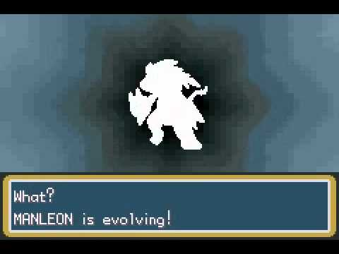 Pokemon Chaos Black Manleon Evolving into Furyon