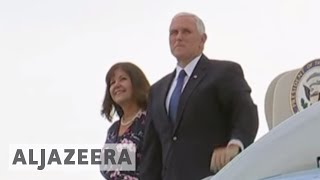 Mike Pence in the Middle East on a three-day trip 🇺🇸 - ALJAZEERAENGLISH