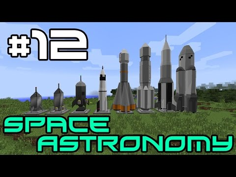 Minecraft Space Astronomy - Crazy Minecart Plans! #12