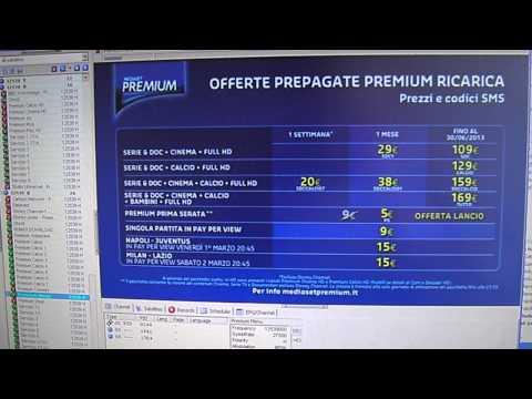 Mediaset Premium cards
