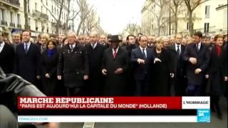 رؤساء الدول يشاركون في مسيرة باريس الصامتة