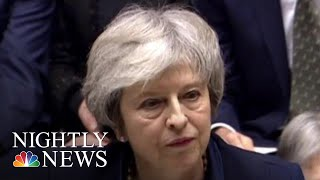 British Parliament Overwhelmingly Rejects Theresa May's Brexit Deal | NBC Nightly News - NBCNEWS