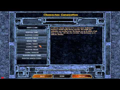 Baldur's Gate - Enhanced Edition: Character Creation Guide