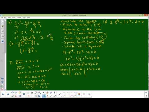 Unit Test 3 numbers 6 through 10