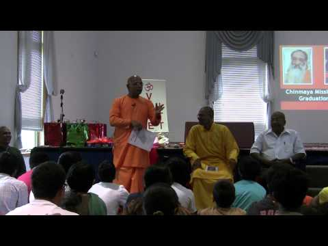 Address by Swani Sharanananda to Bala Vihar Class 2013 & Taittriya Upanishad Chanting