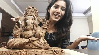 Actress Nabha Natesh Creates Eco Friendly Ganesh At Home - TFPC
