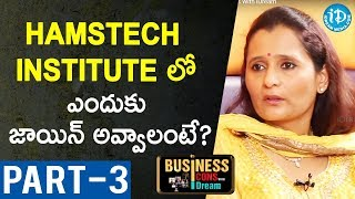 Director Of Hamstech Institute Of Fashion Ajitha Reddy Interview-Part #3| Business Icons With iDream - IDREAMMOVIES