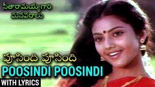 Poosindi Poosindi Video Song With Lyrics   Telugu Superhit Movie సీతారామయ్యగారి మనవరాలు   Meena - RAJSHRITELUGU
