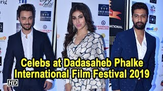 Vicky Kaushal, Mouni Roy at Dadasaheb Phalke International Film Festival 2019 - IANSLIVE