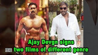 Ajay Devgn signs two films of different genre - IANSLIVE