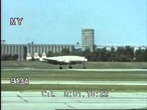 Prop Passenger Planes and Passengers - USA, 1950s
