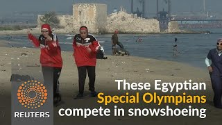 Egypt's Special Olympians train for snowshoeing on sand - REUTERSVIDEO