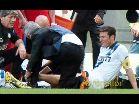 Javier Zanetti ruptured the Achilles tendon - 6 a 8 meses en recuperacion - Retiro de Zanetti