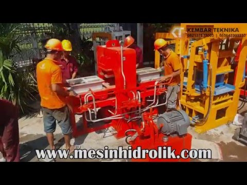 Trial Mesin Cetak Paving Hidrolik Sliding 2