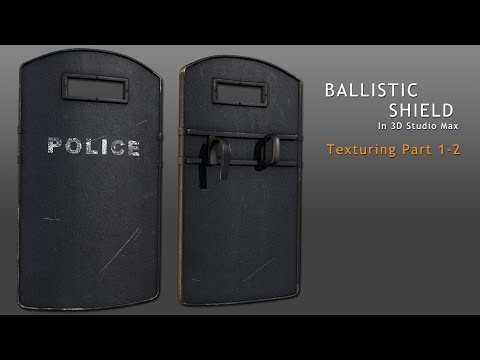 Tutorial: Ballistic Shield in 3D Studio Max - Part 3-2 (reupload)