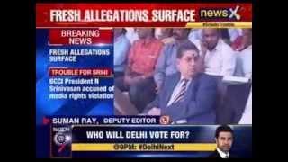 BCCI president N Srinivasan accused of media rights violation - NEWSXLIVE