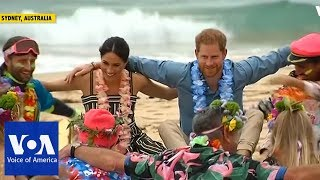 Harry, Meghan Attend 'Fluro Friday' Session on Bondi Beach - VOAVIDEO