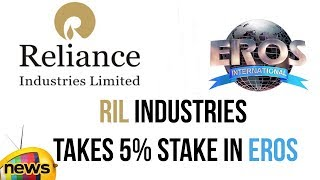 Mukesh Ambani's Reliance Industries Takes 5% Stake in Eros International PLC | Mango News - MANGONEWS