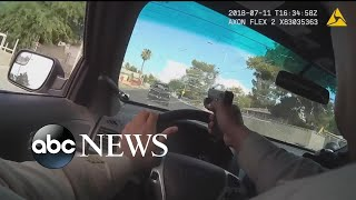 Police bodycam shows officer firing through windshield during chase - ABCNEWS