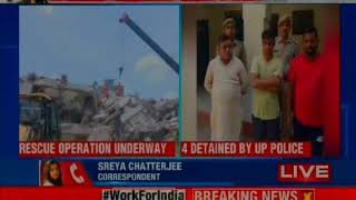 Noida buildings collapsed: 3 dead, over 20 feared trapped; owner held, builder absconding - NEWSXLIVE