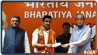 गौतम गंभीर बीजेपी में शामिल, अरुण जेटली की मौजूदगी में ली पार्टी की सदस्यता - INDIATV