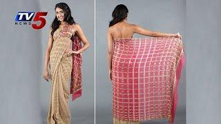 2 Color Checks Pattern Saree | Snehita : TV5 News - TV5NEWSCHANNEL