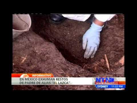Exhuman restos del cadáver del padre de alias