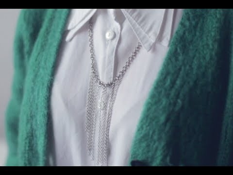 DIY waterfall chain necklace - DIY fashion video tutorial