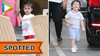 Taimur Ali Khan Spotted with sister Inaaya at Bandra - HUNGAMA