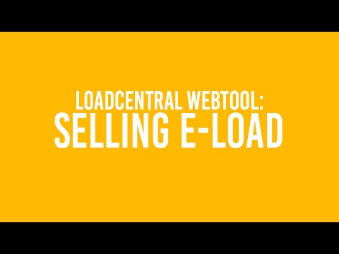 Sell e-Load via LoadCentral Webtool