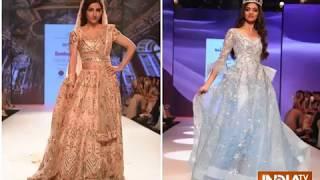 Soha Ali Khan, Miss India World Anukreethy Vas dazzle at BT Fashion Week - INDIATV
