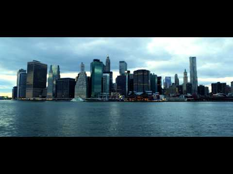 Royalty Free Stock Footage of Hudson River and Manhattan skyscrapers in New York City.