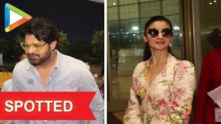 Baahubali Actor Prabhas, Alia Bhatt and others Spotted at Mumbai Airport - HUNGAMA