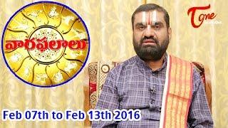 Vaara Phalalu | Feb 07th to Feb 13th 2016 | Weekly Predictions 2016 Feb 07th to Feb 13th - TELUGUONE