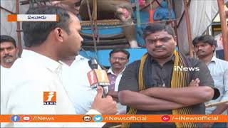22 Feet Eco-Friendly Clay Ganesh Idol at Eluru | West Godavari | iNews - INEWS