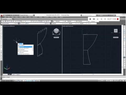 HOW TO MAKE CURTAIN IN AUTOCAD (3D) طريقة عمل الستارة