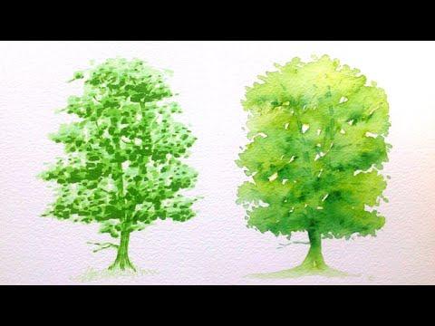 Как рисовать маркерами деревья