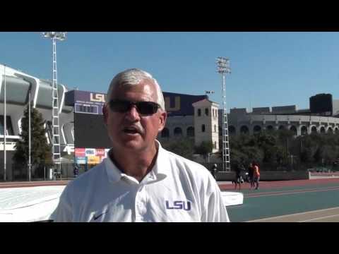 LSU Sprinters Practice